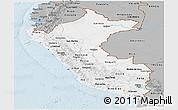 Gray Panoramic Map of Peru