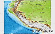 Physical Panoramic Map of Peru