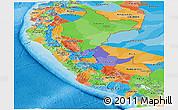 Political Panoramic Map of Peru