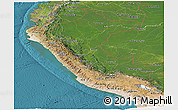 Satellite Panoramic Map of Peru