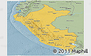 Savanna Style Panoramic Map of Peru