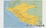 Savanna Style Panoramic Map of Peru