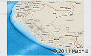 Shaded Relief Panoramic Map of Peru