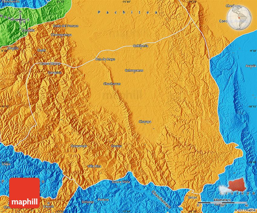 Oxapampa Peru Map.Political Map Of Oxapampa