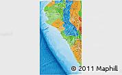 Political Shades 3D Map of Piura
