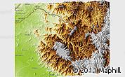 Physical 3D Map of Ayabaca