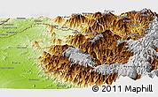 Physical Panoramic Map of Ayabaca