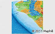 Political Shades Panoramic Map of Piura