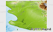 Physical Panoramic Map of Piura