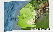Physical 3D Map of Talara, darken