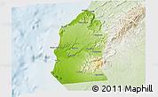 Physical 3D Map of Talara, lighten