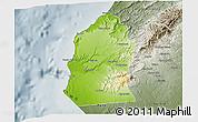 Physical 3D Map of Talara, semi-desaturated