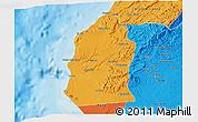 Political 3D Map of Talara