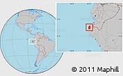 Gray Location Map of Talara