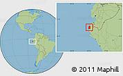 Savanna Style Location Map of Talara