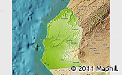 Physical Map of Talara, satellite outside