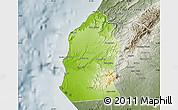 Physical Map of Talara, semi-desaturated