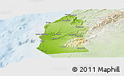 Physical Panoramic Map of Talara, lighten