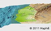 Physical Panoramic Map of Talara, satellite outside