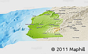 Physical Panoramic Map of Talara, shaded relief outside