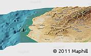 Satellite Panoramic Map of Talara