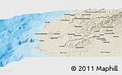 Shaded Relief Panoramic Map of Talara