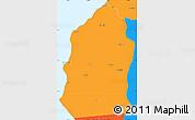 Political Simple Map of Talara