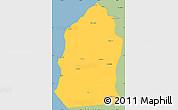 Savanna Style Simple Map of Talara