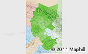 Political Shades 3D Map of Puno, lighten