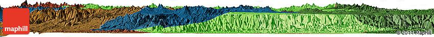 Political Shades Horizon Map of Puno, darken