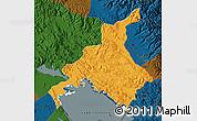 Political Map of Huancane, darken