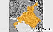 Political Map of Huancane, desaturated