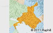 Political Map of Huancane, lighten