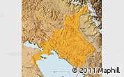 Political Map of Huancane, satellite outside