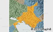 Political Map of Huancane, semi-desaturated