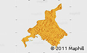 Political Map of Huancane, single color outside