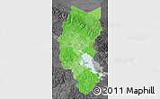 Political Shades Map of Puno, darken, desaturated