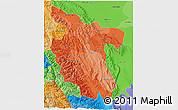 Political Shades 3D Map of San Martin