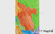 Political Shades Map of San Martin