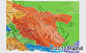 Political Shades Panoramic Map of San Martin