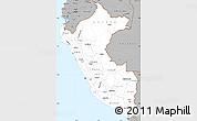 Gray Simple Map of Peru