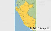 Savanna Style Simple Map of Peru
