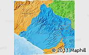 Political Shades 3D Map of Tacna
