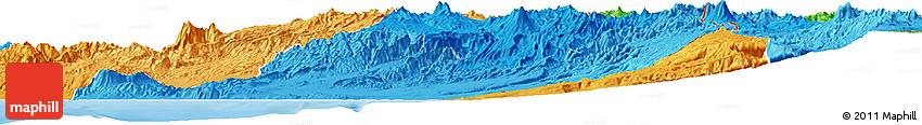 Political Shades Horizon Map of Tacna