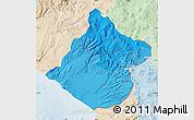 Political Shades Map of Tacna, lighten