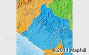 Political Shades Map of Tacna