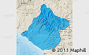 Political Shades Map of Tacna, shaded relief outside