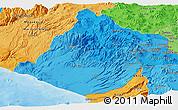Political Shades Panoramic Map of Tacna
