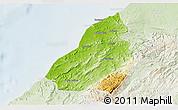 Physical 3D Map of Contralmirante V, lighten