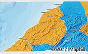 Political 3D Map of Contralmirante V